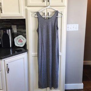 H&M gray low back jersey dress